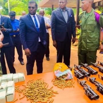 Des armes et munitions de guerre en provenance de Kinshasa, saisies à Gbadolite