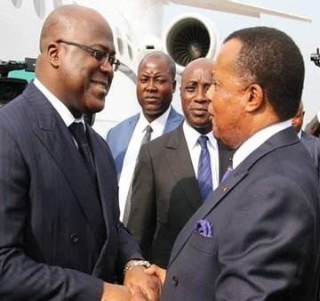 Félix Tshisekedi à Oyo chez Denis Sassou Ngouesso
