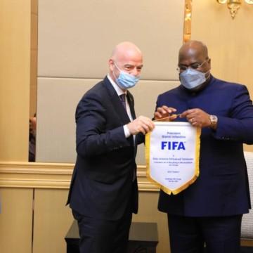Félix tshisekedi et Gianni Infantino