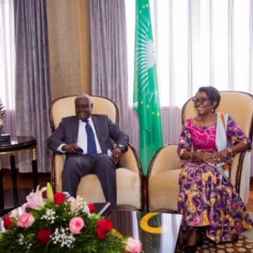 Moussa Faki et Marie Tumba Nzeza