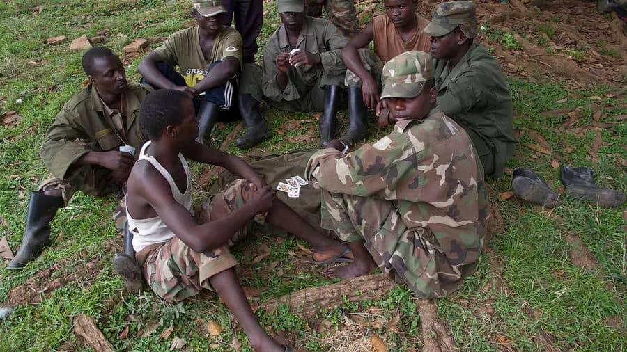 Miliciens ADF à Boga