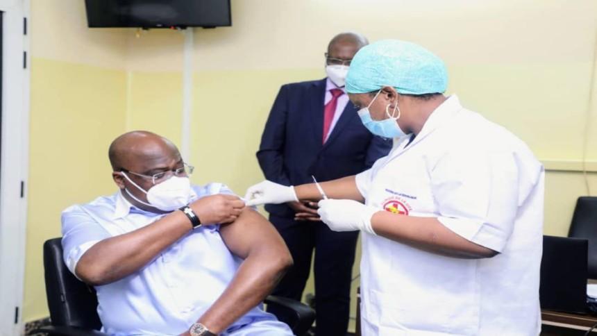 Félix Tshisekedi vacciné contre covid-19