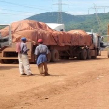 Camions de transport de minerais