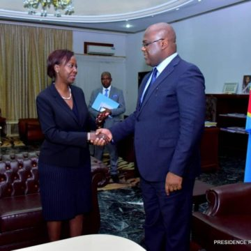 Félix Tshisekedi a reçu Louise Mushikiwabo à Kinshasa
