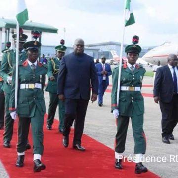 Félix Tshisekedi à Abudja au Nigéria, pour le Tony Elumelu forum