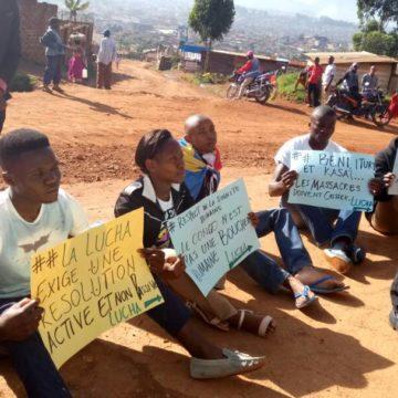 A Beni, la Lucha exige de l'ONU la même solidarité face aux massacres que pour Ebola