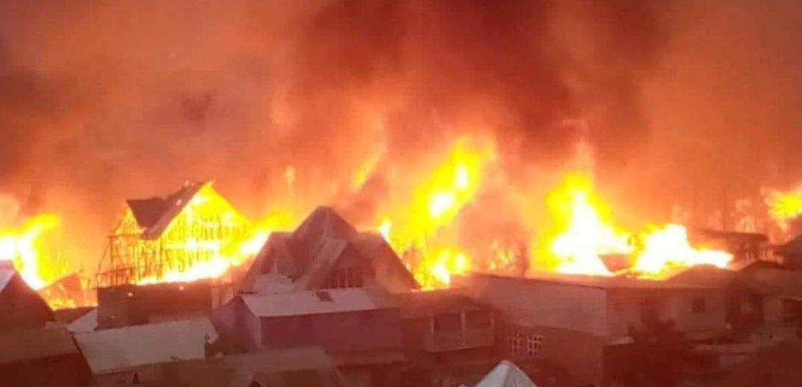 Bukavu: Un mort et 6 blessés dans un incendie à Ibanda