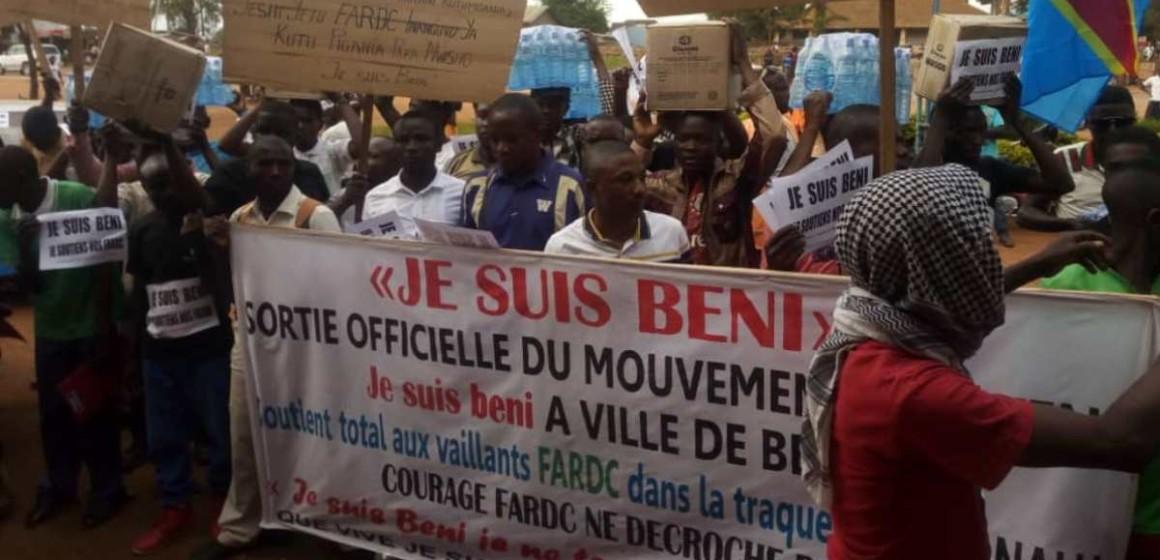 Beni le mouvement citoyen « Je suis Beni » fait don de vivres aux Fardc