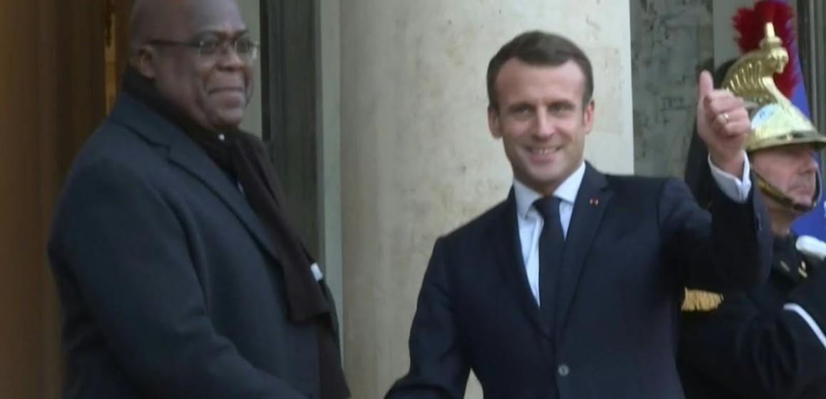Depuis le palais de l'Elysée, Emmanuel Macron annonce une visite en 2020 à Kinshasa
