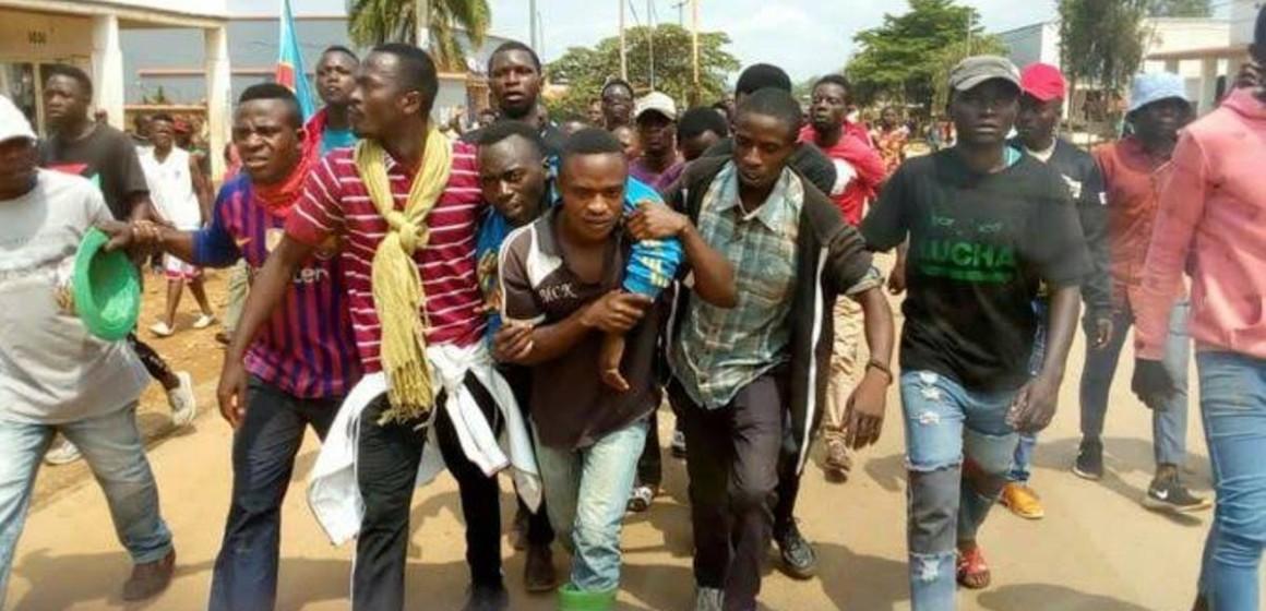 Inhumation du militant de la LUCHA, tué lors des manifestations à Beni