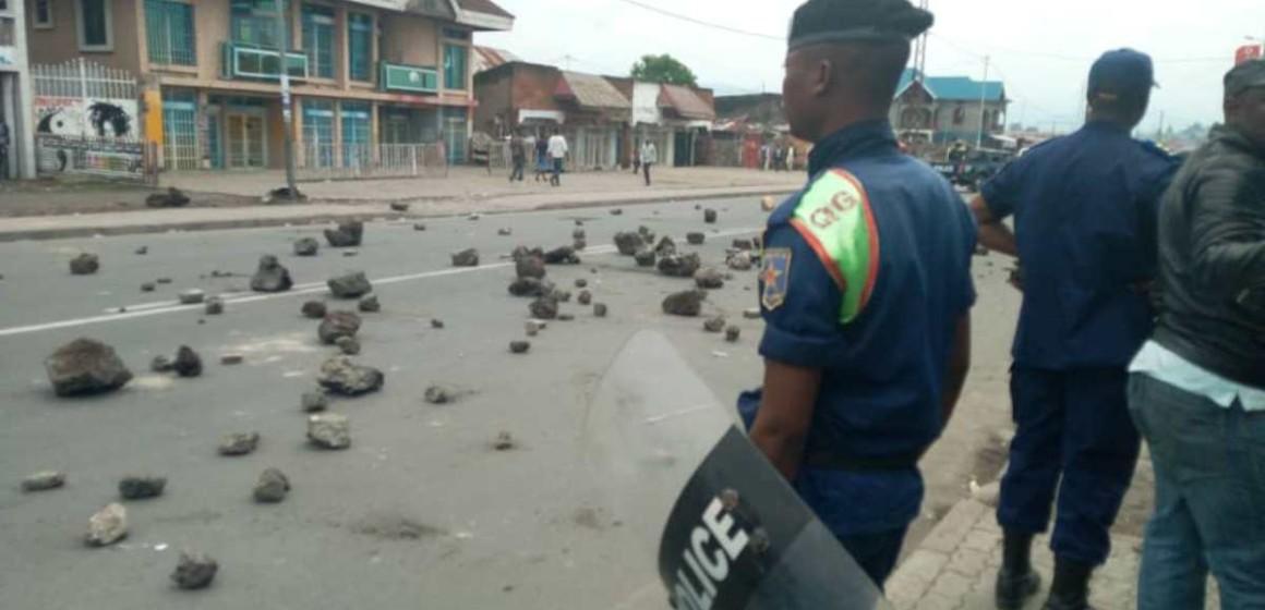 Journée ville morte à Goma : les véhicules de la Monusco victimes de projectiles