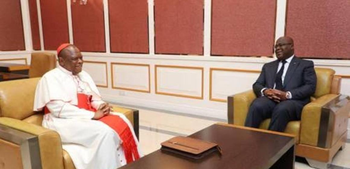 Félix Tshisekedi et le cardinal Ambongo ont échangé sur les préparatifs de la visite du Président congolais au Vatican