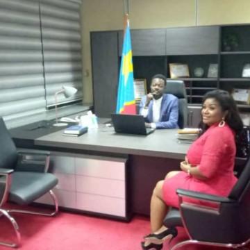 Barbara Kanam a plaidé pour la cause des femmes de l'Est auprès du vice-ministre des Hydrocarbures, Moussa Mondo
