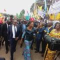 Jeanine Mabunda boucle sa mission dans l'Est par Bukavu
