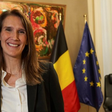 Sophie Wilmès, première ministre belge en visite officielle de trois jours à Kinshasa