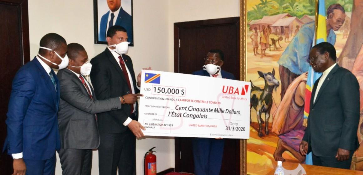 Covid-19 : UBA soutien le gouvernement avec 150 mille dollars américains