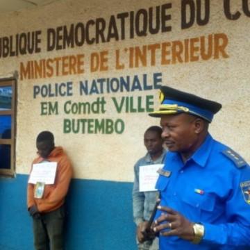 Butembo :La PNC présente à la presse 3 présumés kidnappeurs