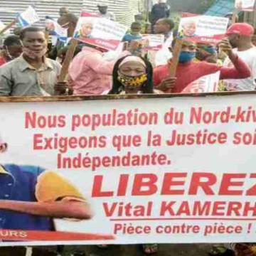 Marche des militants de l'UNC et des associations pro-Kamerhe étouffée par la PNC à Goma