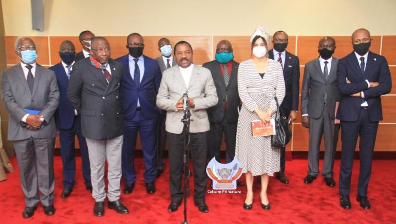 Les 13 parlementaires chez Ilunkamba