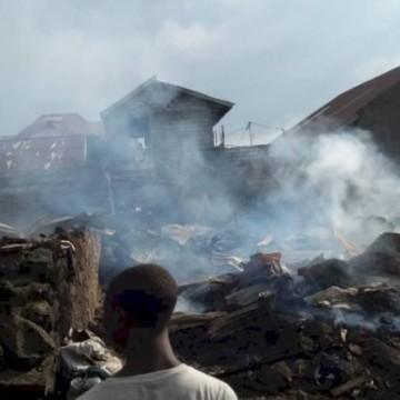 Goma : Plusieurs maisons parties en fumée dans le quartier Himbi