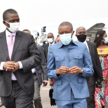Azarias Ruberwa à Goma avec un message de réconfort aux victimes de covid-19