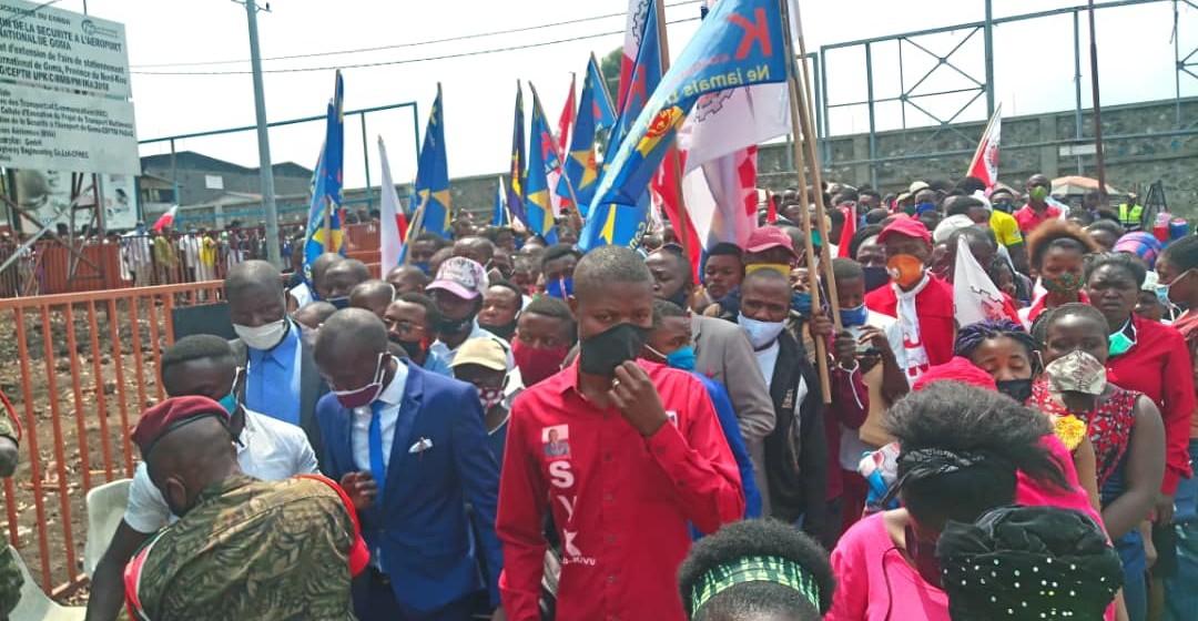 Le ministre de la Jeunesse en mission de résolution des problèmes de la Jeunesse à Goma (Nord-Kivu)