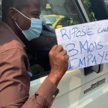 Kinshasa : Les agents de la riposte contre Covid-19 dans la rue pour réclamer les arriérés de salaire