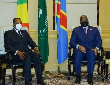 Tête à tête Félix Tshisekedi-Sassou Nguesso au Palais de la Nation