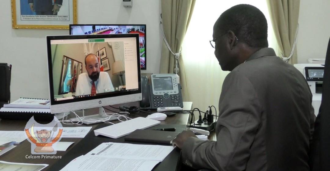 Ebola, Changement climatique et coopération RDC-UK au centre des échanges en visioconférence entre I. Ilunkamba et J. Duddrige