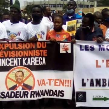 Manifestation contre l'ambassadeur Rwandais Vincent Karega réprimée par la police