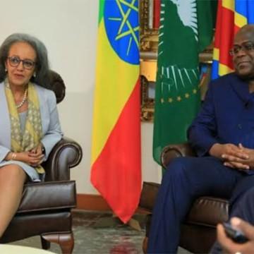 Sahle-Work Zewde, présidente d'Ethiopie, ce mardi à Kinshasa