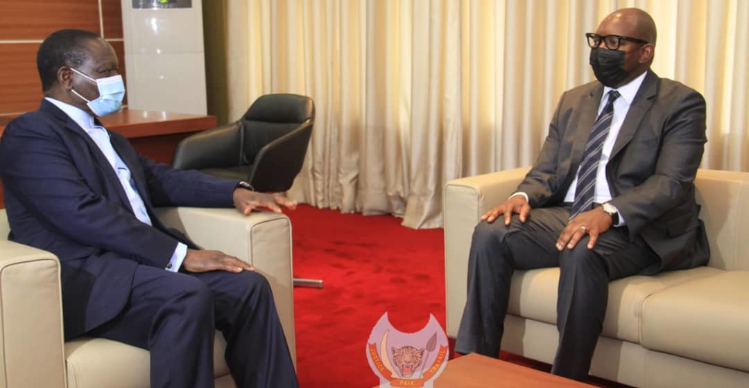 Sylvestre Ilunkamba a reçu son successeur Sama Lukonde