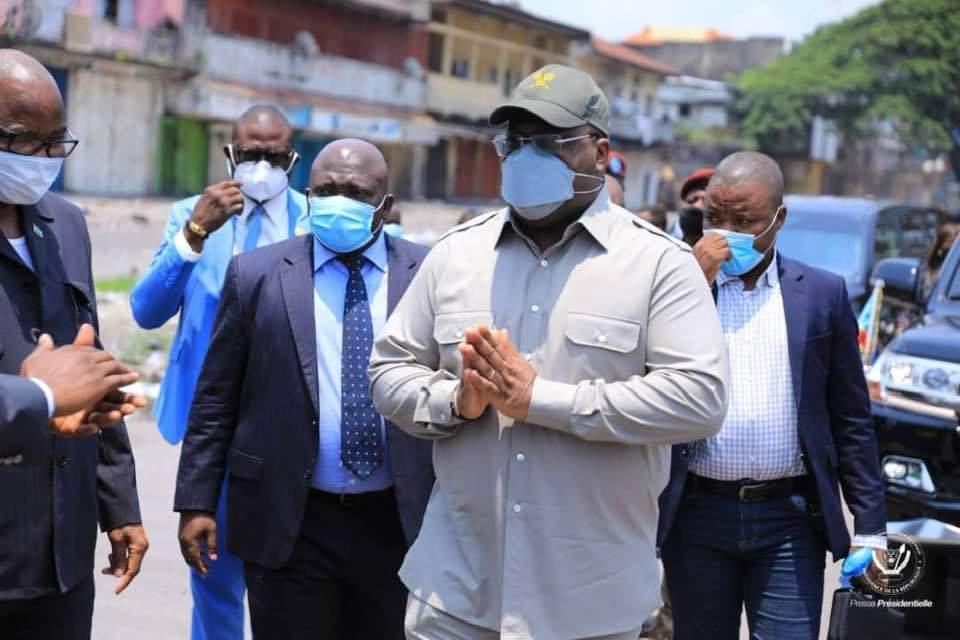 Félix Tshisekedi au marché central