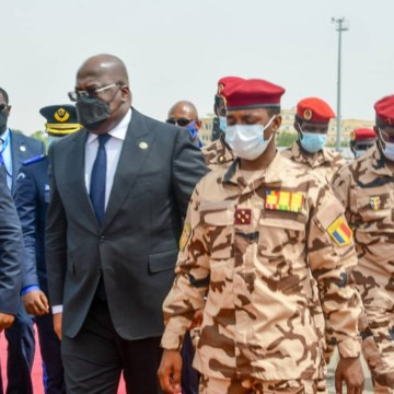 Le président Félix Tshisekedi a assisté aux obsèques du Maréchal du Tchad, Idriss Déby Itno
