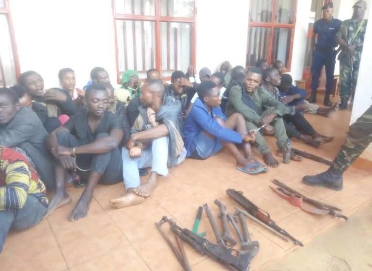 Butembo : 36 présumés bandits présentés à la presse