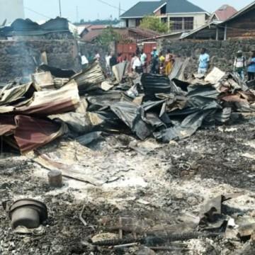 Goma :15 maisons parties en fumées dans le quartier Mabanga