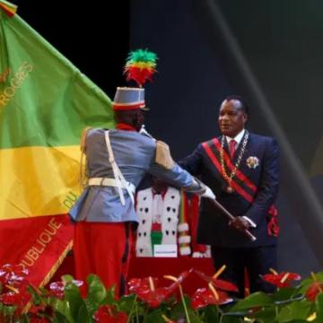 Congo : Denis Sassous Nguesso investi pour un 4ème mandat devant une vingtaine de dirigeants africains