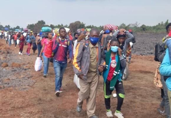 Beni : Le gouvernement provincial du Nord-Kivu s'engage à ramener les déplacés de l'éruption volcanique à Goma