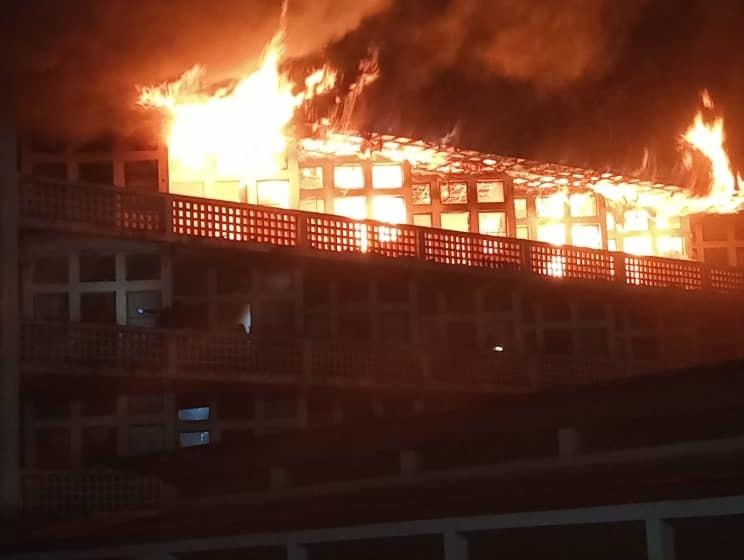 Urgent : Un incendie a consumé une partie de l'ISP Bukavu