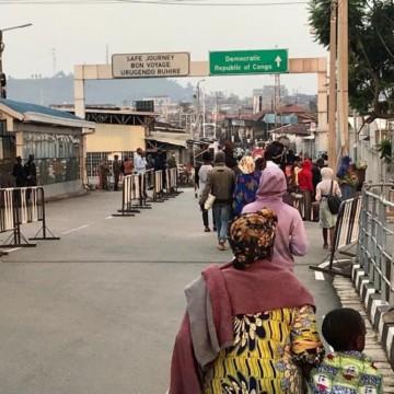 Congolais de retour à Goma après l'éruption