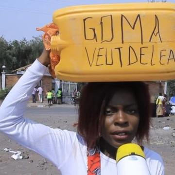 Distribution d'eau à Goma