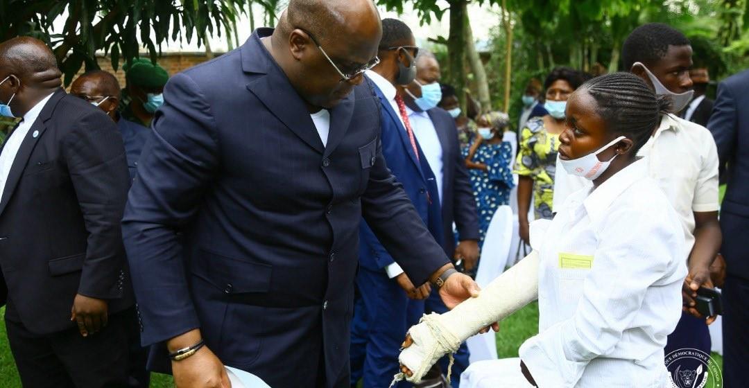 Beni : l'élève Abigaïl Katungu, victime de la répression policière, évacuée à Kinshasa pour des soins sur ordre du chef de l'État