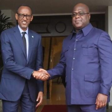 Félix Tshisekedi et Paul Kagame en tête-à-tête samedi à Goma