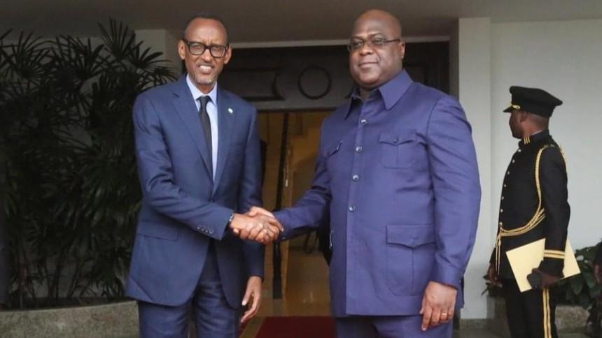 Félix Tshisekedi et Paul Kagame en tête-à-tête à Goma