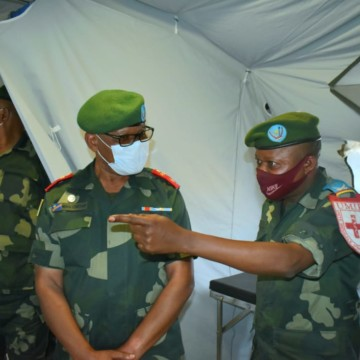Nord-Kivu : le gouverneur Ndima satisfait de la prise en charge des sinistrés à l'hôpital militaire mobile