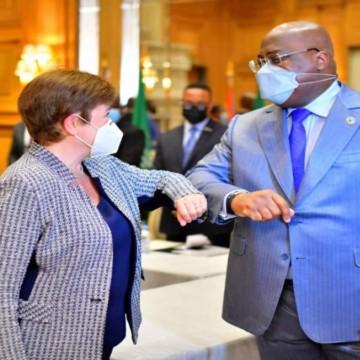 Félix Tshisekedi et Kristina Georgina DG FMI