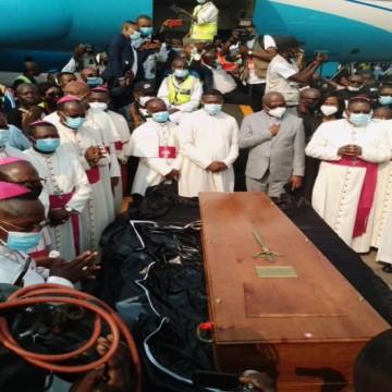 Arrivée de la dépouille mortelle du feu Cardinal Laurent Monsengwo Pasignya