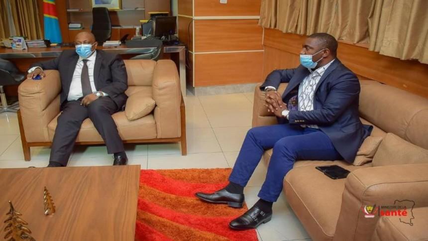 Patrick-Munyomo et le ministre de la Santé