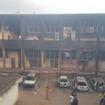 Poste de Bukavu incendiée