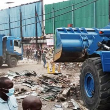 Marchés pirates démolis à Kintambo